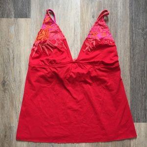 Becca embroidered bikini top.